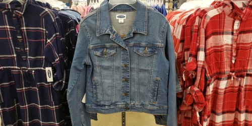 Old Navy Women's & Kids Jean Jackets Just $12-$15 (In-Store Only)