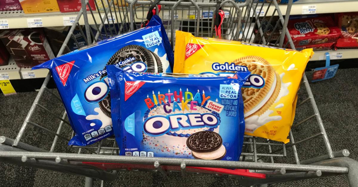 Oreo cookies in cart