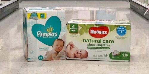 Pampers & Huggies Baby Wipes HUGE Packs as Low as $11.49 Each After Target Gift Card
