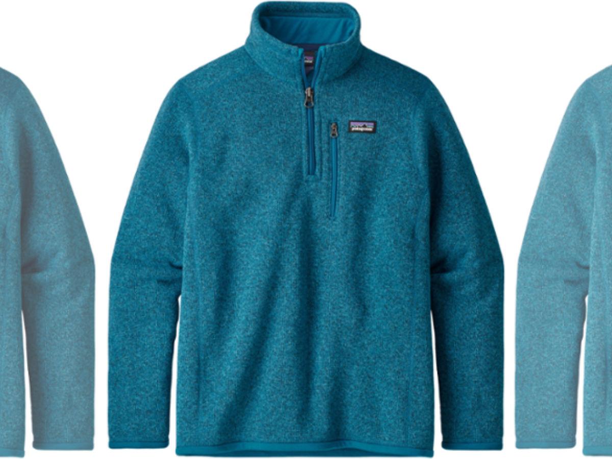 Patagonia zip fleece pullovers