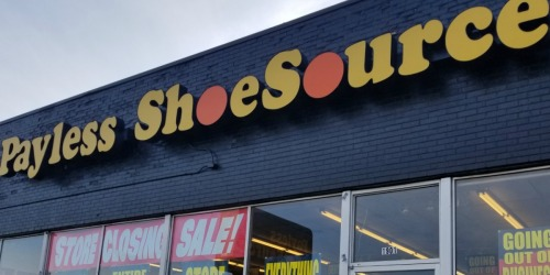 Payless ShoeSource Closeout Sale = Up to 40% off Entire Store