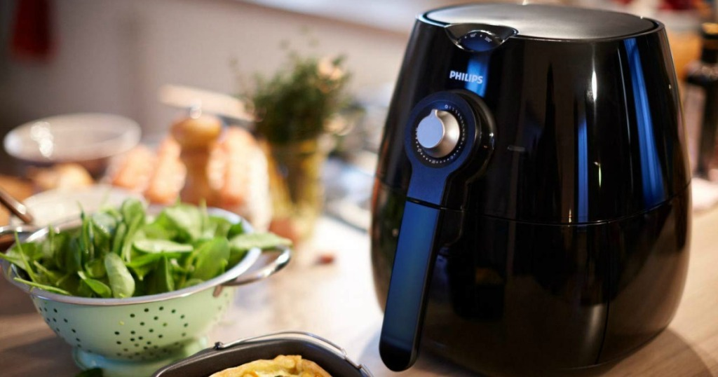philips air fryer on table