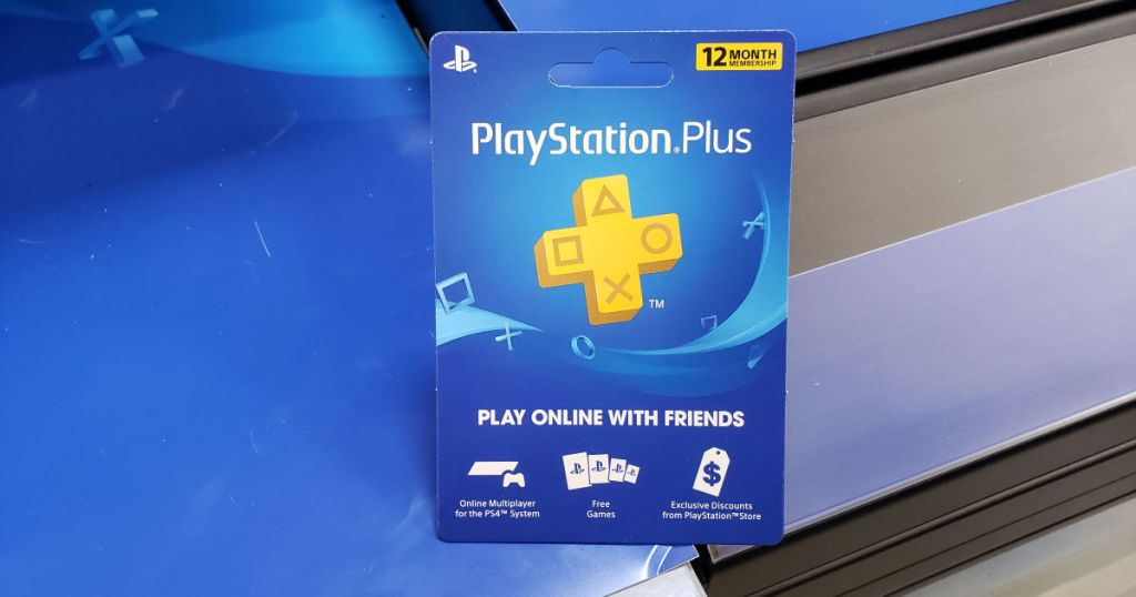 PlayStation Plus 12-month membership card
