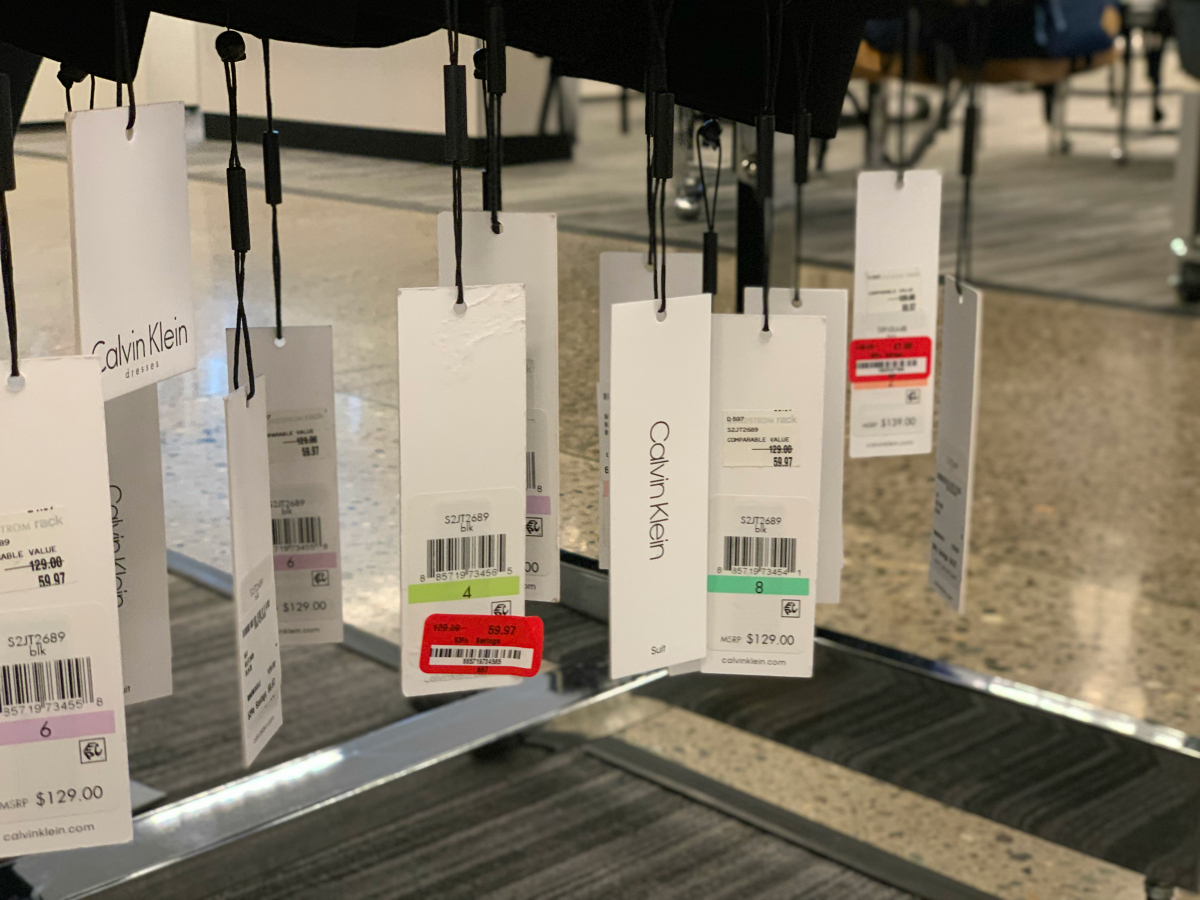 different price tags at Nordstrom Rack