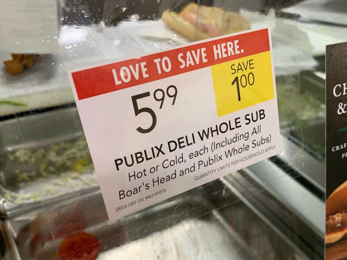 Publix Sub Sandwich