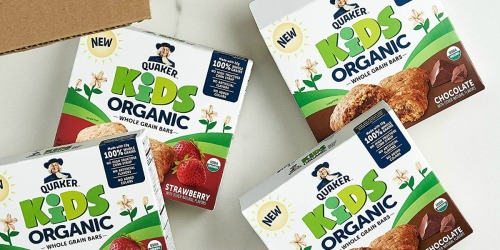 Amazon: 4 Boxes of Quaker Kids Organic Whole Grain Bars Only $9 Shipped