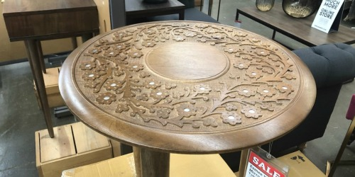 World Market Esmee Carved Accent Table Just $44.99 (Regularly $150)
