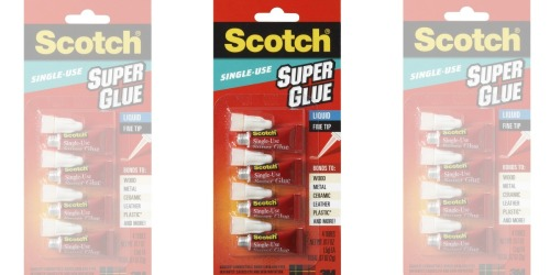 Scotch Super Glue Single Use 4-Pack Only $2.44 Shipped at Amazon