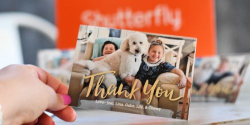 12 Shutterfly Thank You Cards Only $1.99 Shipped & More