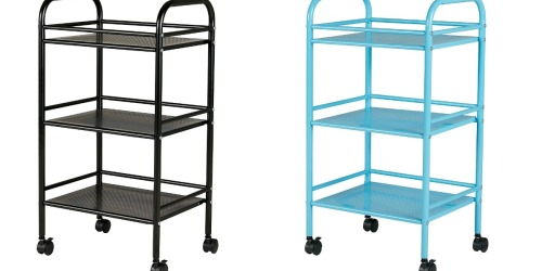 Staples 3-Shelf Rolling Carts as Low as $8.64 (Regularly $32)