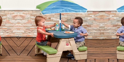 Amazon: Step2 Sit and Play Kids Picnic Table w/ Umbrella Just $34 Shipped (Awesome Reviews)