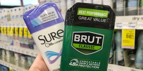 Sure Antiperspirant & Deodorant Only $1.25 on Walgreens.com + More