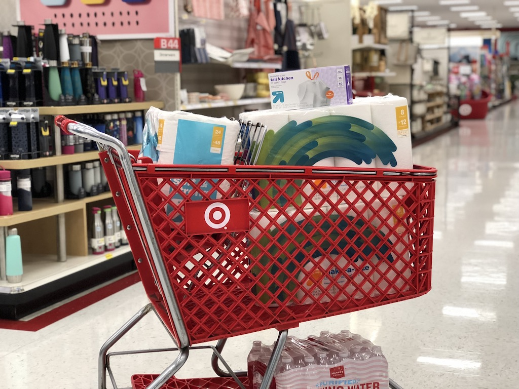 Target Cart full of products
