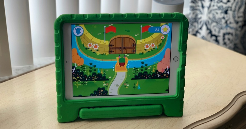 kids ipad with teach your monster to read app