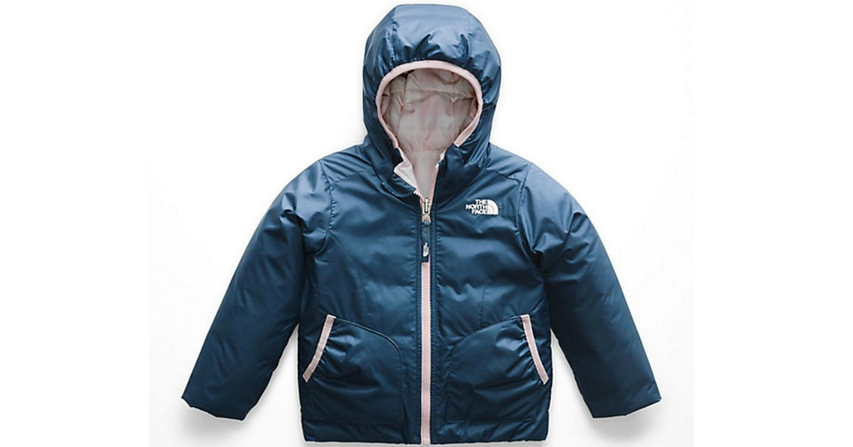 126a82be857e The North Face Toddler Girls Reversible Perrito Jacket in Blue Wing Teal   47.99 (regularly  79.95) Use promo code EXTRA20 (20% off) Shipping is free  on  49+