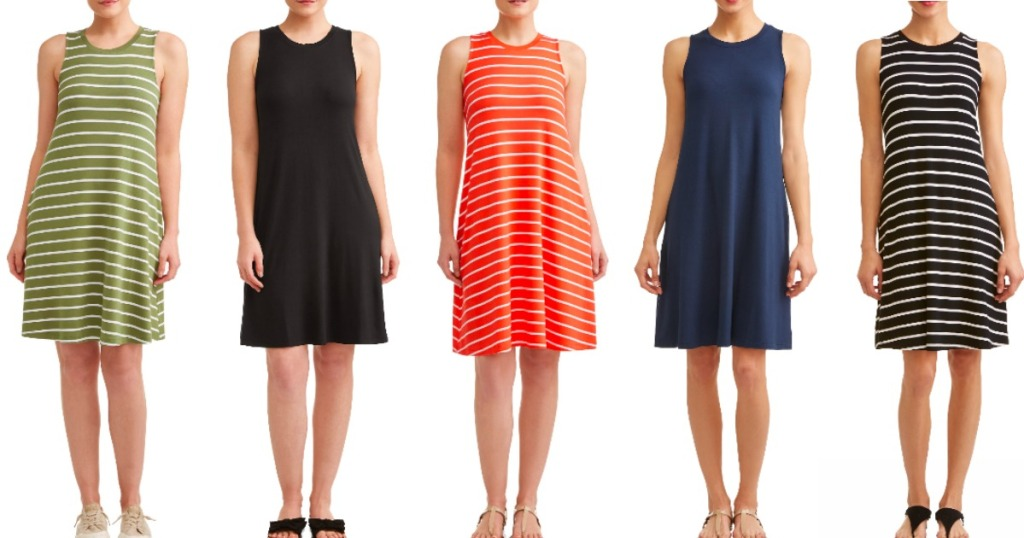 b84e5fb3ab8 Time and Tru Women s Sleeveless Knit Dresses Only  9.96 at Walmart ...