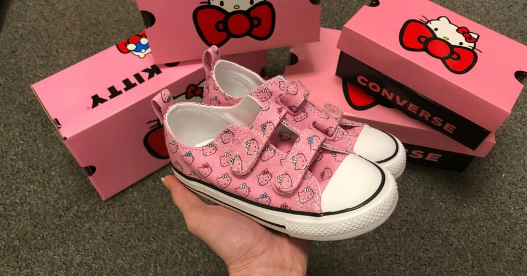 32acce566e547d Toddler Girls  Converse Hello Kitty Chuck Taylor All Star 2V Sneakers   34.99 (regularly  40) Use promo code MARMVCFREE1 (free shipping)