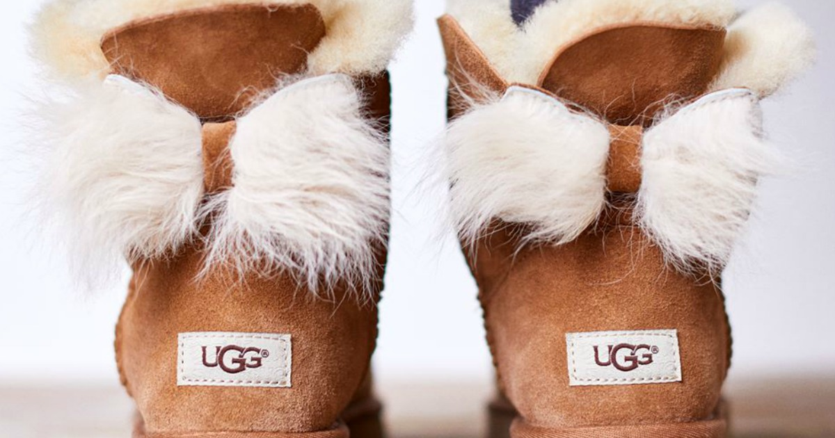 UGG Women's Fluff Bow Suede Boots Only