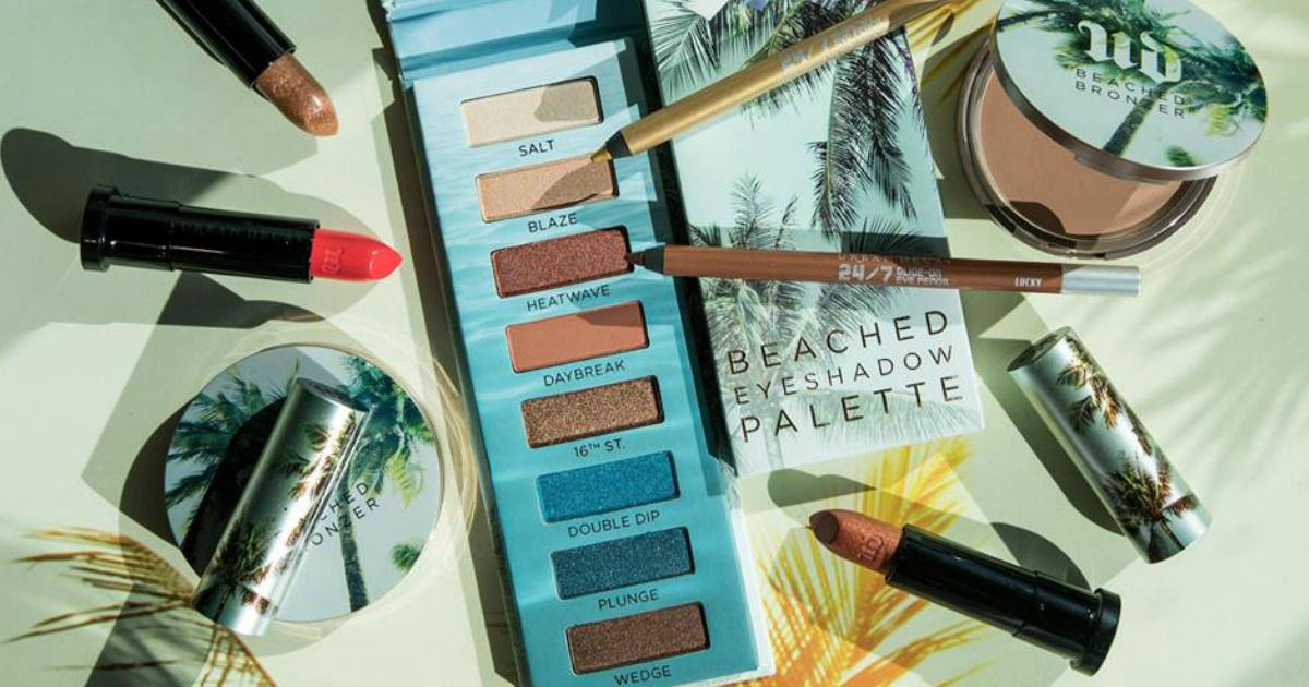 urban decay beached eye shadow palette