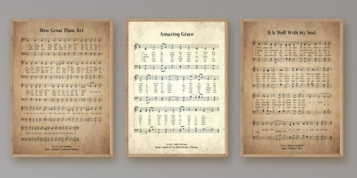 Vintage Hymn Prints as Low as $8 Shipped Each | Sizes Up to 12×18