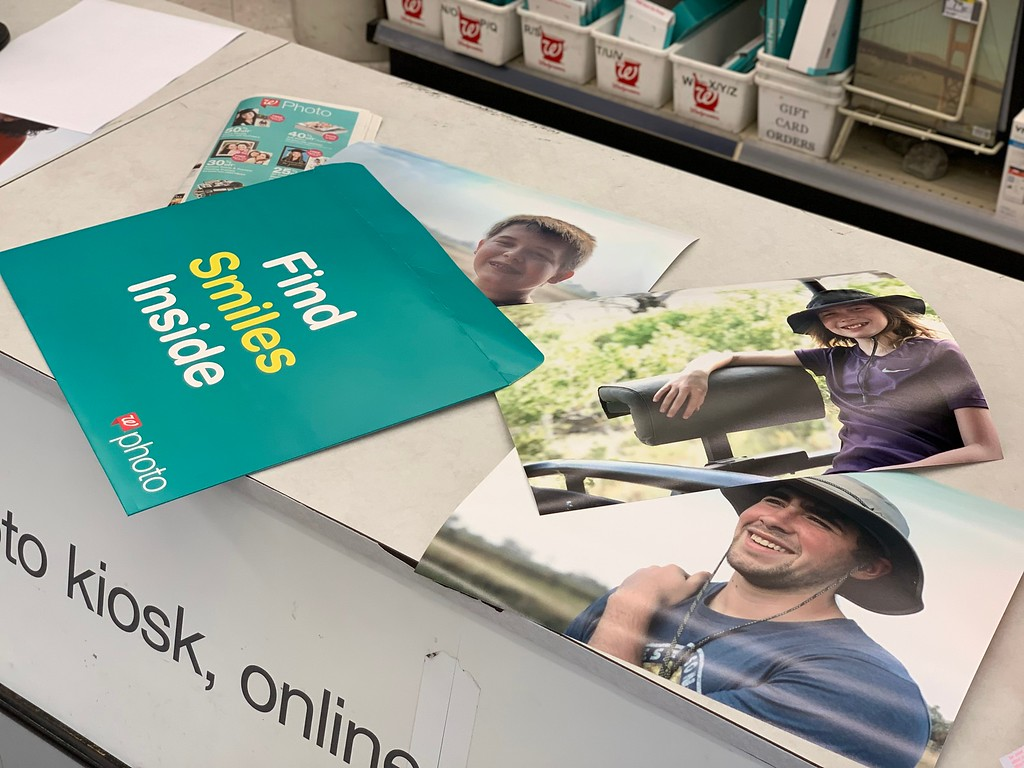 Walgreens Photo Prints on counter