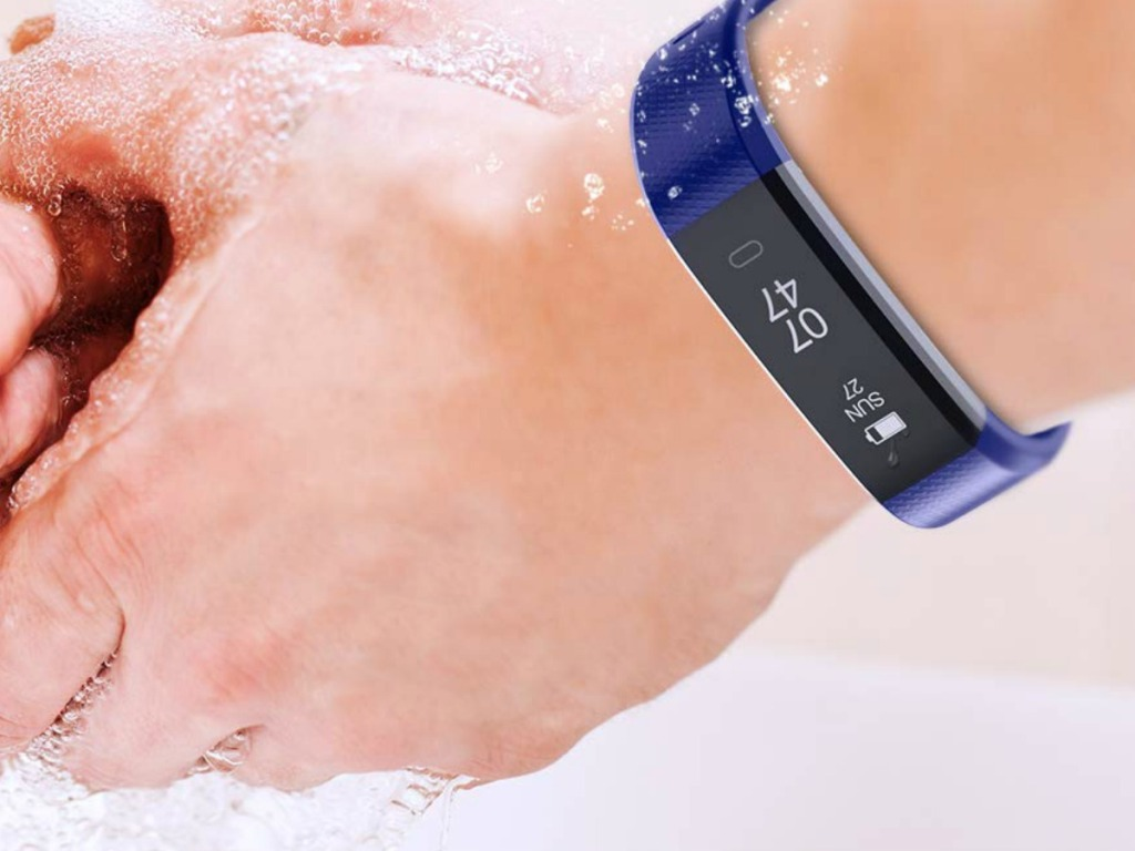 fitness tracker with water