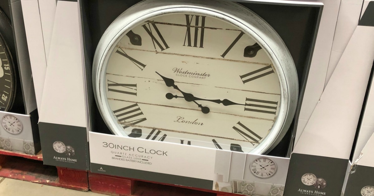 Sam S Club Oversized Wall Clock Only 19 98 In Store Online Hip2save