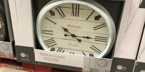 Sam's Club: Oversized Wall Clock Only $19.98 (In-Store & Online)