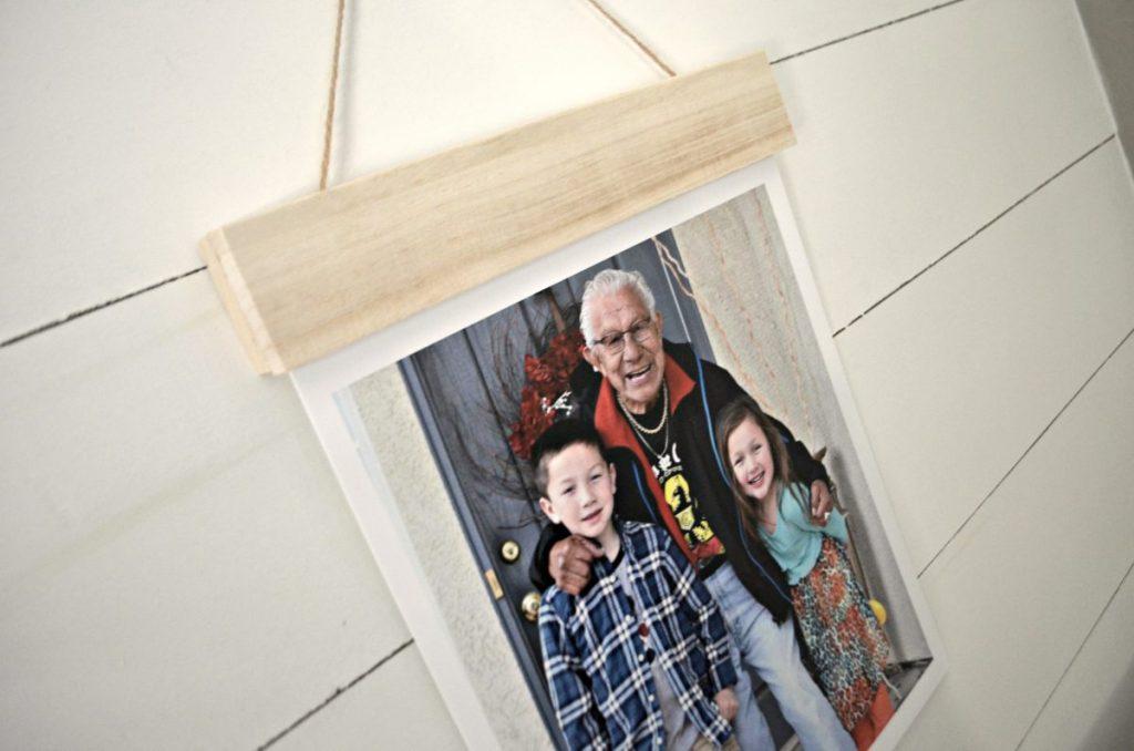 wood hanger board print