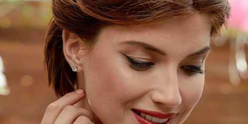 Sterling Silver Diamond Accent Stud Earrings Only $24.99 (Regularly $119) + More