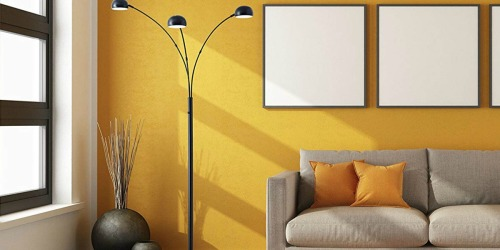 Adesso 84″ Satin Steel Floor Lamp Just $51.75 Shipped at HomeDepot.com (Regularly $104)