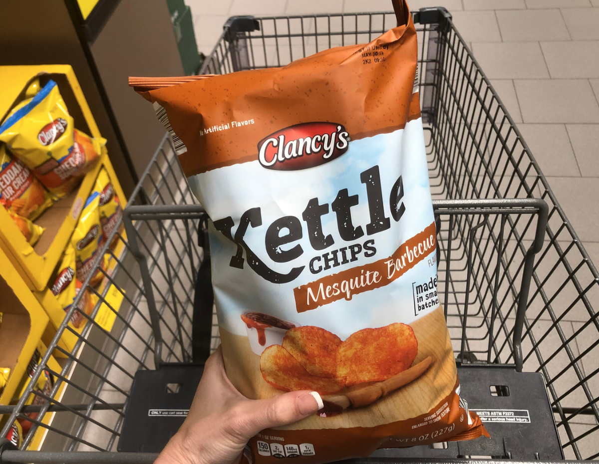 Clancy's kettle chips from Aldi