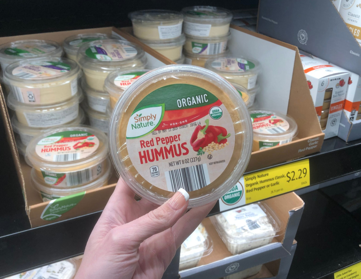 organic red pepper hummus Aldi