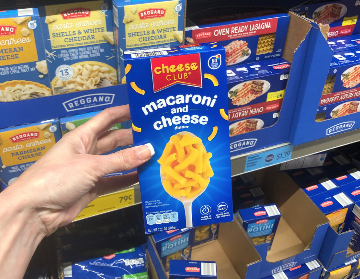 boxed macaroni and cheese Aldi