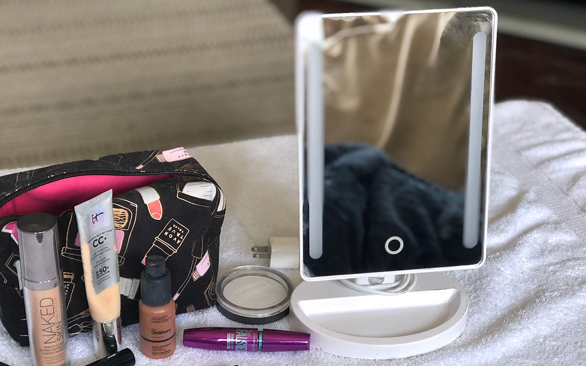 emily's makeup bag — led light up makeup mirror