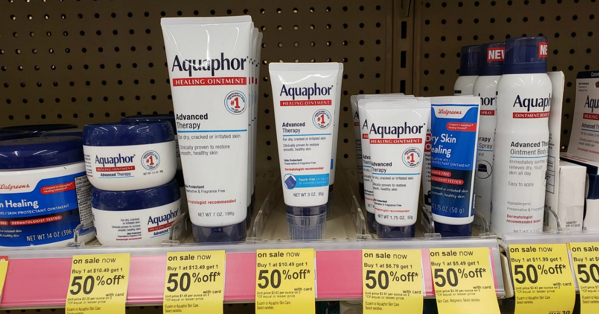 picture relating to Aquaphor Printable Coupon called Previously mentioned 50% Off Aquaphor Therapeutic Ointment At the time Walgreens