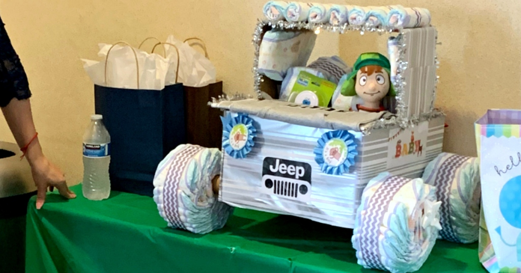baby shower diaper truck