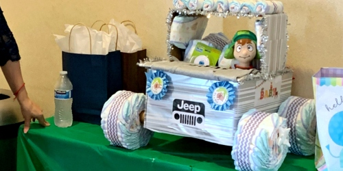 Heading to a Baby Shower? Create an Adorable Diaper Jeep on the Cheap