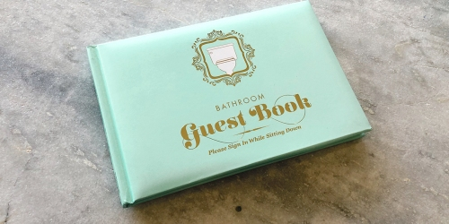 Hip2Poop Giveaway: Enter to Win One of FIVE Bathroom Guest Books