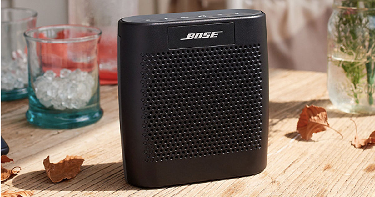 Bose bluetooth speaker on a table