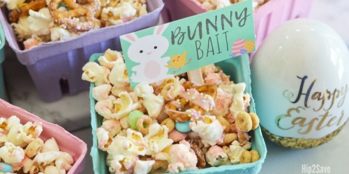 Bunny Bait Easter Popcorn Snack + Free Printable
