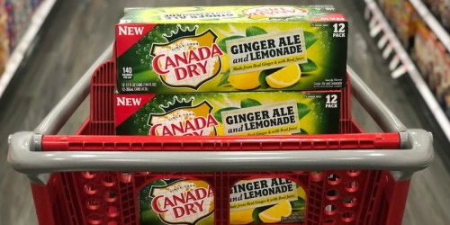 Canada Dry Ginger Ale & Lemonade 12-Packs as Low as $2 After Cash Back at Target