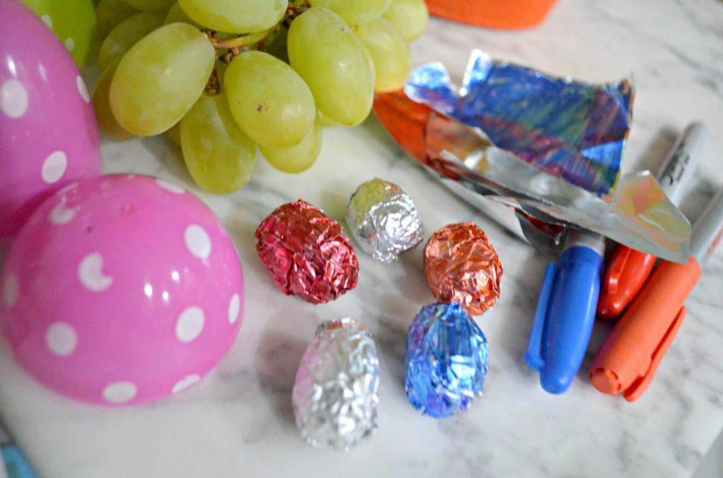 wrapped grapes gag easter egg hunt
