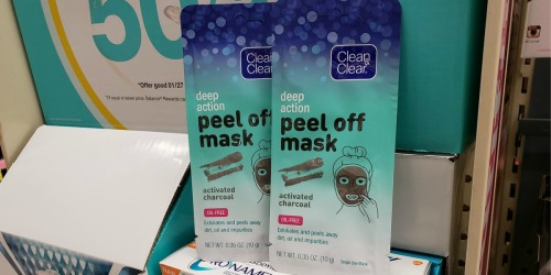 Clean & Clear Peel Off Mask Only 24¢ Each After Cash Back at Walgreens