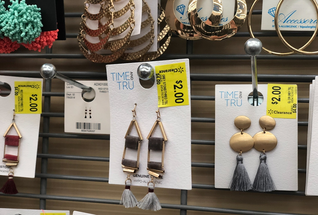 walmart wednesday — time and tru earrings on clearance at walmart