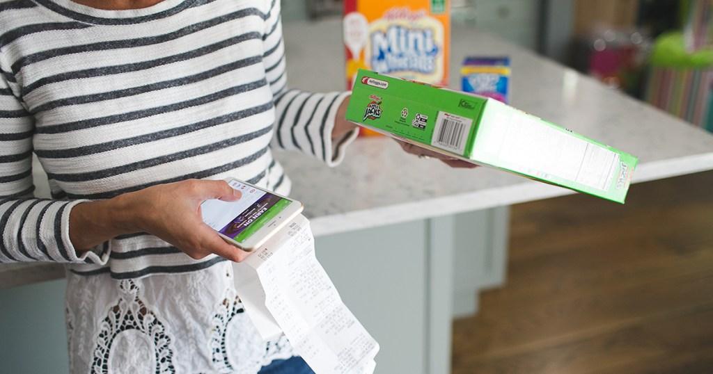 collin scanning receipt for cereal rebate