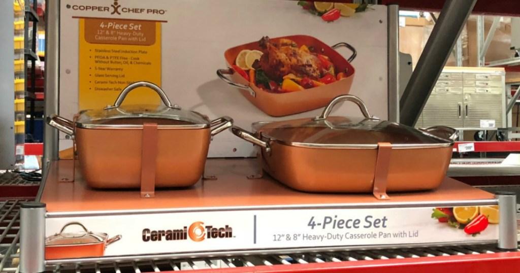 Copper Chef 4 Piece Deep Casserole Pan Set Only 24 98
