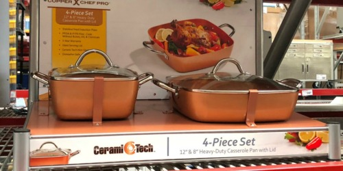 Copper Chef 4-Piece Deep Casserole Pan Set Only $24.98 Shipped at Sam's Club (Regularly $80)