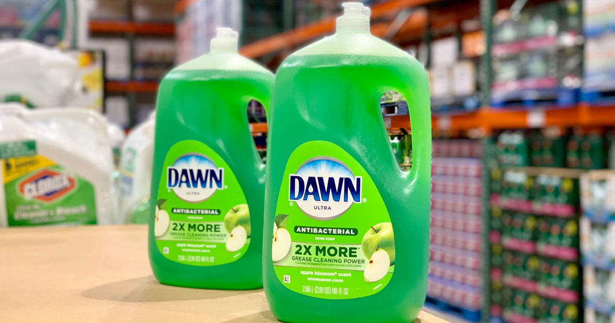 costco deal – dawn anti-bacterial dish soap in apple blossom scent