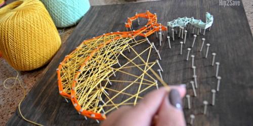 Easy DIY String Art (Fun Fall Project)